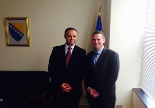 "Embassy (September 1, 2015):Adnan Hadrovic, Charge d'Affaires a.i. met with Mr. Peter Duffy, newly appointed Director of USAID Mission in Bosnia and Herzegovina"" title=""Embassy (September 1, 2015):Adnan Hadrovic, Charge d'Affaires a.i. met with Mr. Peter Duffy, newly appointed Director of USAID Mission in Bosnia and Herzegovina"